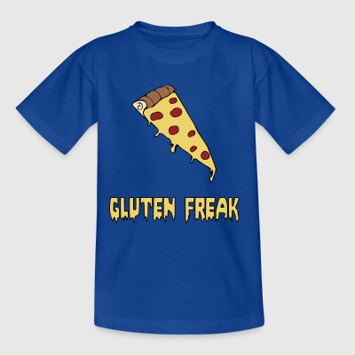 Gluten freak diet humor pizza t-shirt - Kids' T-Shirt