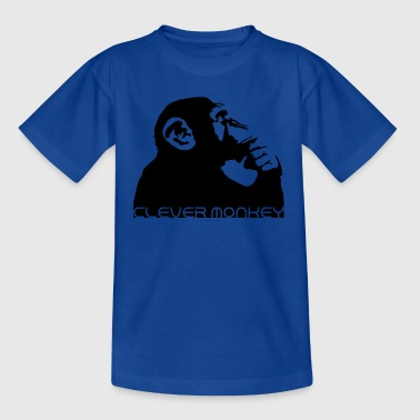 clever monkey - Kids' T-Shirt