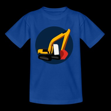 Kid's Excavator Emblem - Kids' T-Shirt