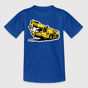 Autokran, crane (3 color) - Kinder T-Shirt