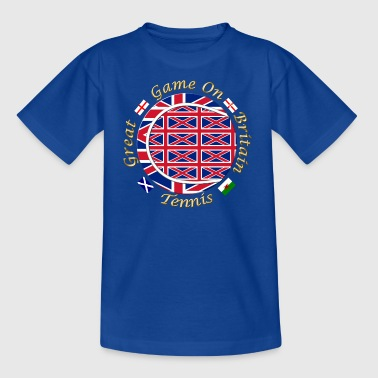 great britain union tennis crest - Kids' T-Shirt