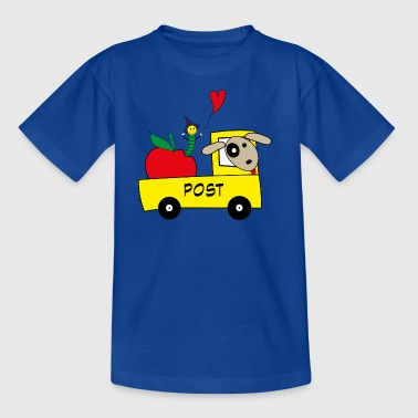 Postauto mit Hund - Kinder T-Shirt