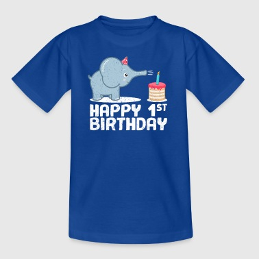Happy Birthday! 1. Geburtstag Elefant Torte Kerzen - Kinder T-Shirt