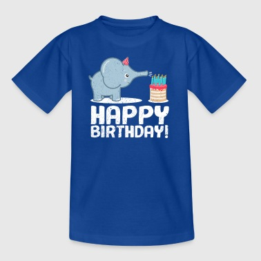 Happy Birthday! Geburtstag Elefant Torte Kerzen - Kinder T-Shirt