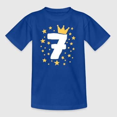 Birthday child 7 years prince princess crown - Kids' T-Shirt