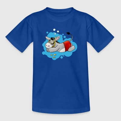 Kuschelesel goes swimming - Kids' T-Shirt