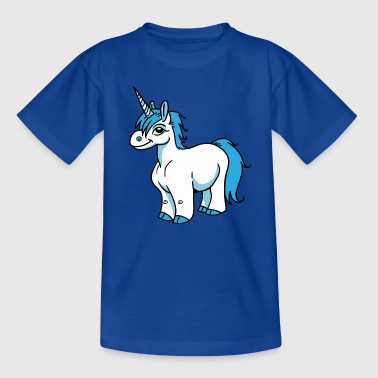 Blue Unicorn - Kinder T-Shirt