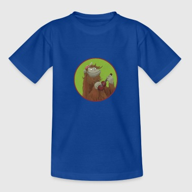 Monkey with ukulele - Kids' T-Shirt