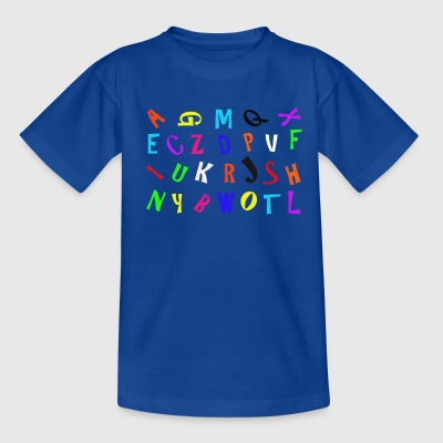 Alphabet in Farbe - Kinder T-Shirt