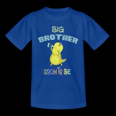 Big Brother pian Baby Announcement DinoDab - Lasten t-paita