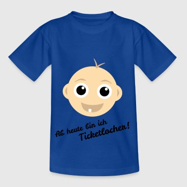 Baby Zahn Ticketlocher - Kinder T-Shirt