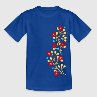Flowers, floral tendril, twine, summer, spring, - Kids' T-Shirt