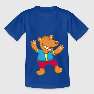Theo the happy bear - Kids' T-Shirt