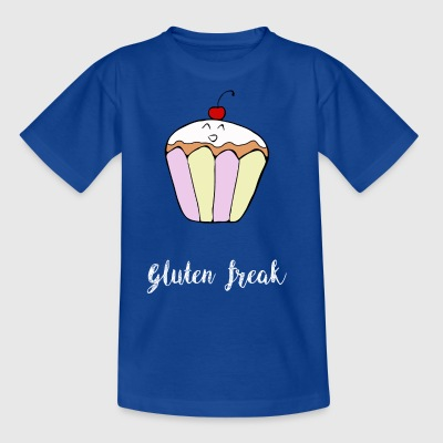 Gluten freak cupcake humor t-shirt white - Kids' T-Shirt