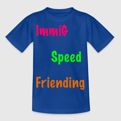 Immig Speed ​​Frieding / roze-groen-oranje - Kinderen T-shirt