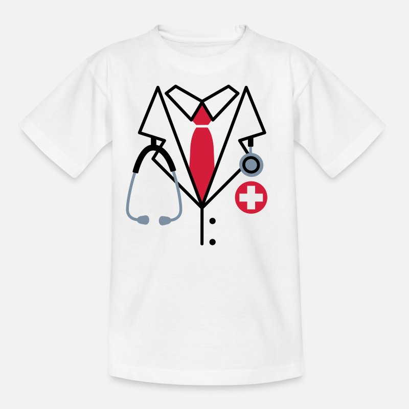 Stethoscope T-Shirts - Doctor - Kids' T-Shirt white