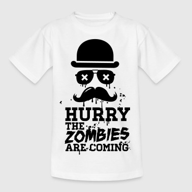Hurry the zombies are coming zombie halloween - Kids' T-Shirt