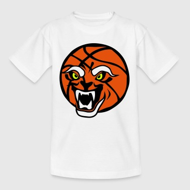 ballon basketball face cartoon gueule ou - T-shirt Enfant