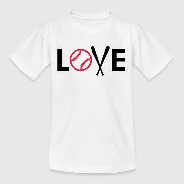 I love baseball. Baseball Bat and Ball - Kids' T-Shirt