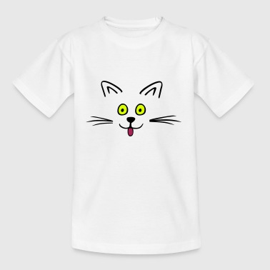 Funny cute cat - T-skjorte for barn