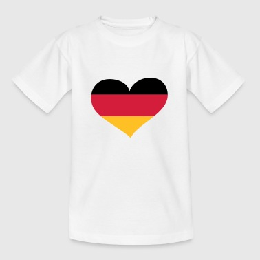 Deutschland Herz; Heart Germany - Kids' T-Shirt