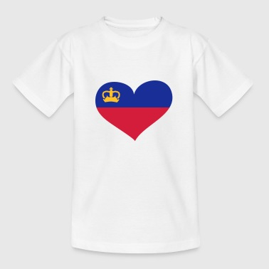 Liechtenstein Herz; Heart Liechtenstein - Kids' T-Shirt