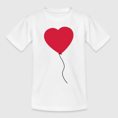 Love Heart Balloon - Camiseta niño