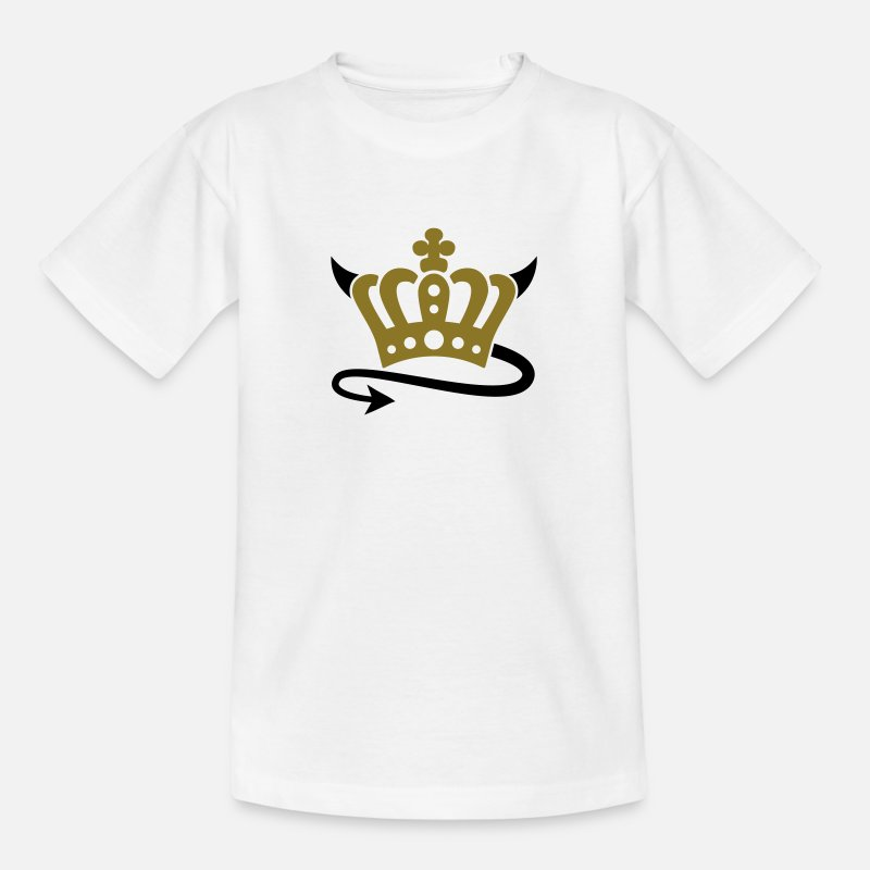 Crown T-Shirts - Devil | Queen | King | Königin | König | Crown | Krone - Kids' T-Shirt white