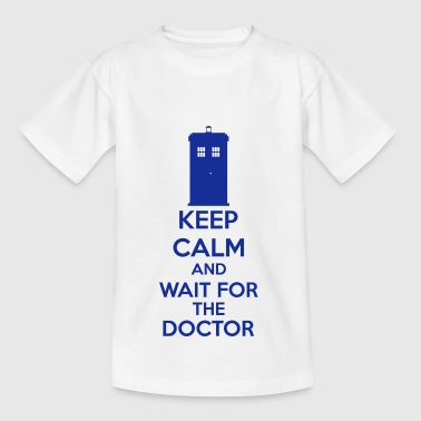 Keep Calm And Wait For The Doctor - Koszulka dziecięca