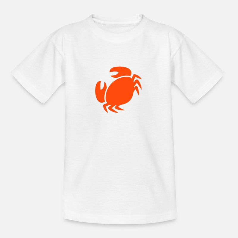 Crab T-Shirts - Crab Silhouette - Kids' T-Shirt white