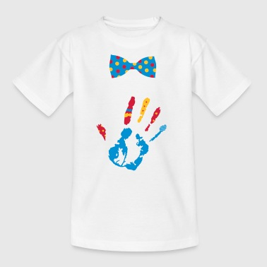 A colorful hand print with various shapes - Kids' T-Shirt
