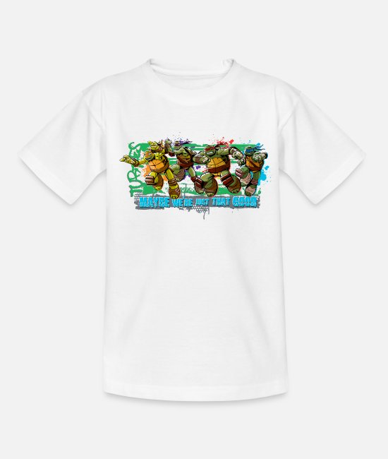 Turtles Camisetas - Kids Shirt TURTLES 'Maybe' - Camiseta niño blanco