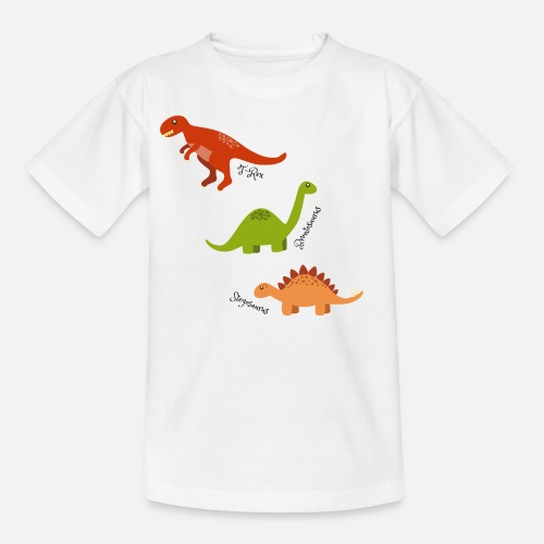 Tre Dinosaurier T Shirt Barn Spreadshirt