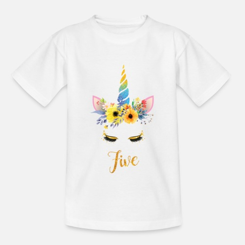 Kids T Shirt5th Birthday Girl Unicorn Gift