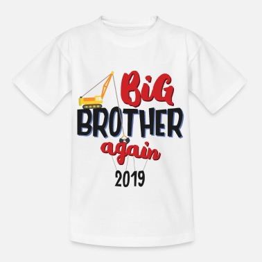 Finally Offspring 2019 - Big brother crane driver gift - Kids' T-Shirt