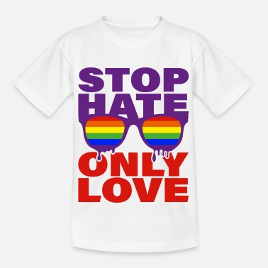 Stop HATE only LOVE CSD LGBT - Kinder T-Shirt