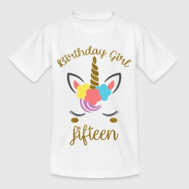 Birthday Girl Fifteen - Kids' T-Shirt