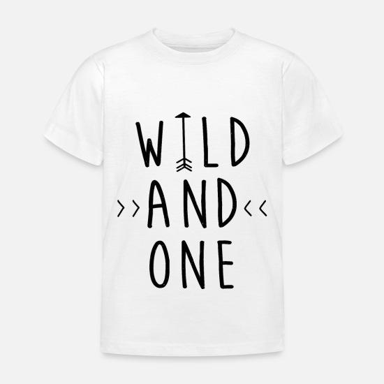 Verjaardag Kind Een 1 Verjaardag Meisje Cadeau Kinderen T Shirt Wit