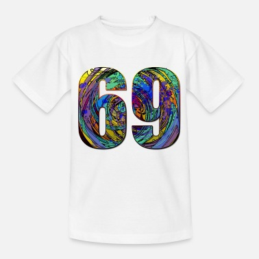 Number 69 Number 69, College Number, Sport - Kids' T-Shirt