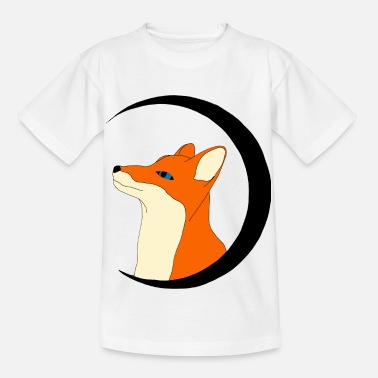 Fox in the black moon, gift - Kids' T-Shirt