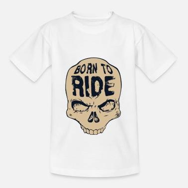 Skull Born to ride - T-shirt Enfant