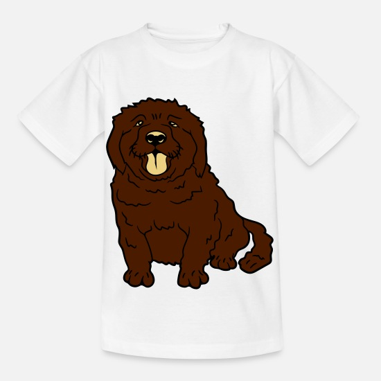 Small T-Shirts - sweet little brown sitting dog - Kids' T-Shirt white