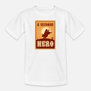Western Riding Bull Riding 8 Seconds Hero Vintage Rodeo Retro Cow - Kids' T-Shirt