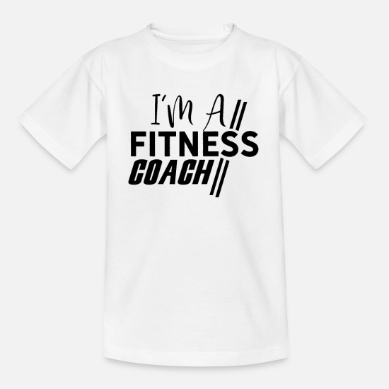Studio T-Shirts - Sport Fitness Trainer Trainer Fitness Trainer Gym - Kids' T-Shirt white