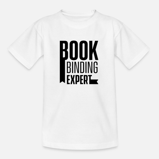 Gift Idea T-Shirts - bookbinding - Kids' T-Shirt white