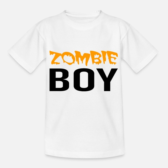 Zombie Apocalypse T-Shirts - Zombie Boy - Halloween - Witch - Dracula - Horror - Kids' T-Shirt white