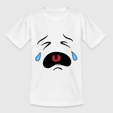 Weinender Smiley - Kinder T-Shirt