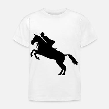 CHEVAL T-shirt Personnalisé Enfants 3 à 13 ans Enfants show jumping PONEY
