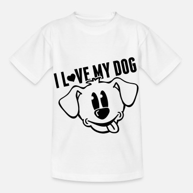 Langue Bouche i_love_my_dog_to1 - T-shirt Enfant