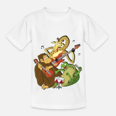 Make Music Zoo animals make music - Kids' T-Shirt